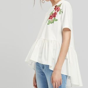 Tops - Embroidered Floral Embroidered Blouse S